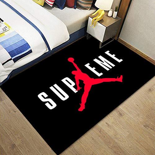 ACJIA Spielen Sie Basketball Teppiche Wohnzimmer Teppich, Slam Dunk Muster Teppich waschbar mit Nicht Beleg Zurück Geeignet für Schlafzimmer und Heim,A,100 * 160cm