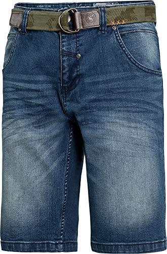 LERROS Herren Jeansbermudas in Hellblau, lässige Shorts für Männer, Kurze Hose inklusive sportivem Textilgürtel, Gr. 48-60