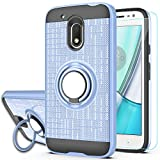 Moto G4 Play Case,Moto G Play 4th Generation Case,[Not fit Moto G4],with HD Screen Protector,YmhxcY 360 Degree Rotating Ring & Bracket Dual Layer Resistant Back Cover for Moto G4 Play-ZH Metal Slate