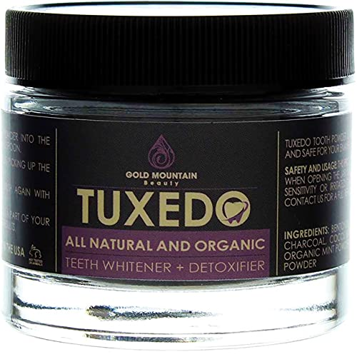 Tuxedo Activated Charcoal Teeth Whitening Charcoal Powder - All Natural Whitening Toothpaste with Carbon Coconut Charcoal
