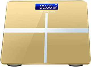 Básculas de baño Pantalla Digital De Temperatura Caliente Balance De Casa Balance De Peso Analizador De Grasa Corporal Exactamente Resistente A Los Arañazos