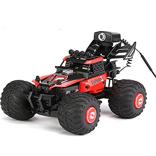 JIAO Remote Control Car, Mobile Phone Control DIY Assembly Buggy Vehicle Electric Charging WiFi Camera Suitable for Buggy of High Speed ​​Best Gifts for Adults and Children