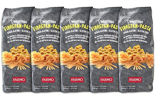 FARMO – FIBREPAN PASTA Preparato per Pasta all'uovo e per Besciamella - Sacchetto da 500g – Senza Glutine (5 Sacchetti)
