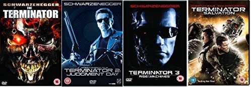 Terminator Quadrilogy Complete (4 Discs) DVD Collection: Terminator 1 / Terminator 2: Judgement Day / Terminator 3: Rise of the Machines / Terminator 4: Salvation + Extras by Arnold Schwarzenegger