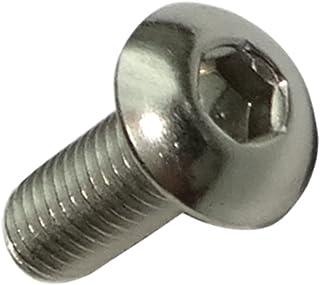 Aerzetix: 200 skruvar skruvar med konvex huvud M3x8 mm rostfritt stål A2 tryck 2 mm alla C17517