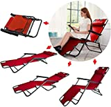 Gracious Mart - Folding Relax Lounge Chair for Outdoor, Indoor Lounge Easy Chair & Bed - [Recliner | Pack of 1]