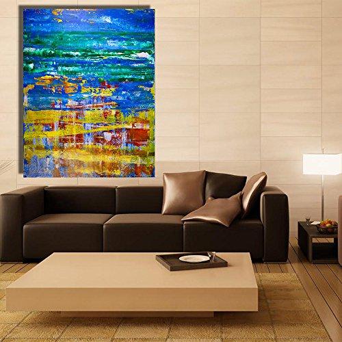 Spiegel abstracte foto kunst canvas schilderij muurschildering woonkamer muurschildering decoratie 30x37cm Geen frame