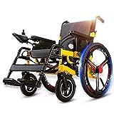 SED Trolley Ligero Silla de Ruedas Eléctrica Auxiliar Plegable 500W Ful Motor Reposabrazos Pedal Asistencia para Caminar Ajustable Carros Utilitarios