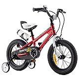 RoyalBaby Bicicletas Infantiles niña niño Freestyle BMX Ruedas auxiliares Bicicleta para niños 16 Pulgadas Rojo