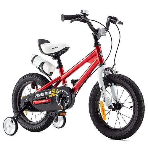 RoyalBaby bicicletta per bambini ragazza ragazzo Freestyle BMX bicicletta bambini bici per bambini 18 pollici rosso