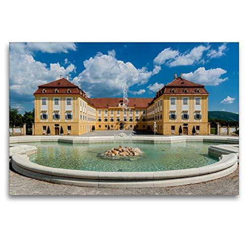 CALVENDO Premium Textil-Leinwand 120 x 80 cm Quer-Format Schloss Hof – Die Perle unter den Marchfeldschlössern, Leinwanddruck von Alexander Bartek