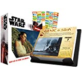 Star Wars 2021 Calendar, Box Edition Bundle - Deluxe 2021 Star Wars Day-at-a-Time Box Calendar with Over 100 Calendar Stickers (Star Wars Gifts, Office Supplies)