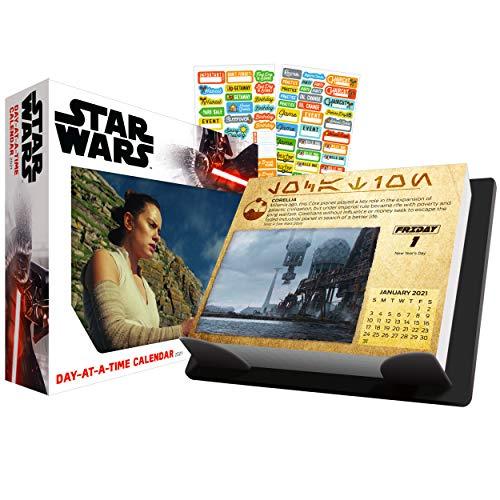 Star Wars 2021 Kalender, Box Edition Bundle – Deluxe 2021 Star Wars Day-at-Time Box Kalender mit über 100 Kalenderaufklebern (Star Wars Geschenke, Bürobedarf)