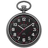 Gotham Men's Gun-Tone Stainless Steel Mechanical Hand Wind Railroad Pocket Watch # GWC14100BBK