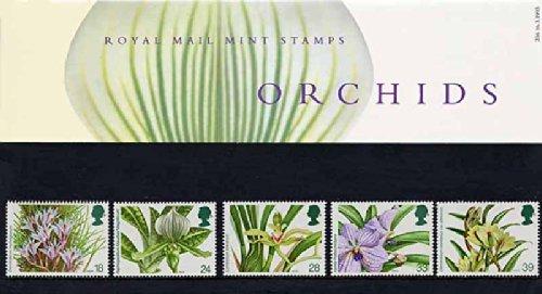 1993 orquídeas presentación paquete PP205 (nº impreso 236) - sellos de Royal Mail