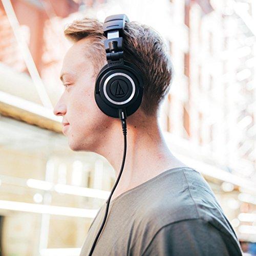 Audio-Técnica ATH-M50x - Auriculares para DJ, color negro