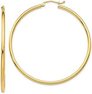 Best 2 inch diameter gold hoop earrings Reviews