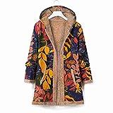 Sudaderas con capucha para mujer Otoño/Invierno impresión manga larga sudadera con capucha chaqueta de felpa cálida, azul, 4XL