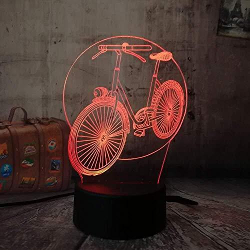 Cadeaus voor tieners, kerstcadeaus, 3D, RGB, nachtlampje, fiets, nachtlampje, meerkleurig, 7 kleuren, afstandsbediening, USB-tafellamp, kerstcadeau voor kinderen, lava met afstandsbediening