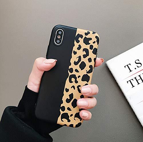 ZTOFERA Hülle für iPhone 7 iPhone 8 iPhone SE 2020, Leopard Muster Schlank Hülle, Weich Flexibel Anti-Kratzer Bumper Schutzhülle für iPhone 7/8/SE 2020 - Schwarz