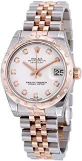Rolex Datejust 31 White Diamond Dial Steel and 18kt Pink Gold Ladies Automatic Watch 178341WDJ