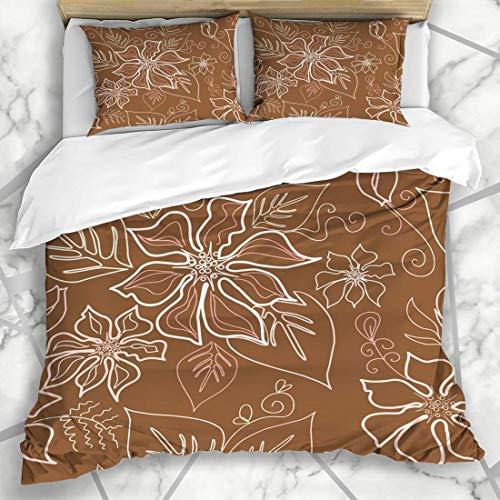 Conjuntos de funda nórdica Azulejos Aloha Polinesio Sarong Azulejos Patrón Decoración Belleza Diseño Texturas de moda Camisa de la isla del remolino Microfibra suave Dormitorio decorativo con 2 fundas