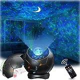 Lupantte LED Proiettore Cielo Stellato Lampada, Proiettore Cielo Stellato con Rilassanti Effetti Aurora con Luna/Sound Activated, Proiettore per Camera da Letto/Home Theater/Arredamento della Stanza