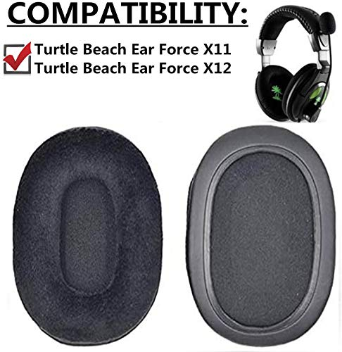 1 par de almohadillas reemplazables para auriculares Turtle Beach Ear Force X12 Ear Force X11