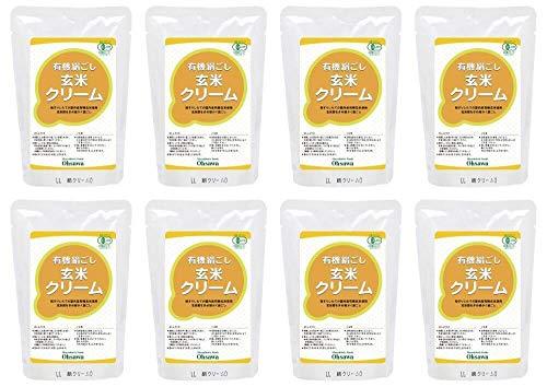 オーサワジャパン 有機絹ごし玄米クリーム 200g ×8セット