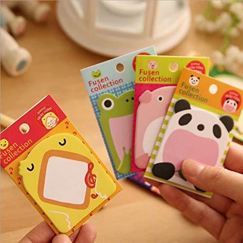 RICISUNG 動物 の 付箋 可愛い メモ帳 8個セット 強粘着 おもしろ かわいい 手帳 付箋紙 学生用メモ帳 さまざまな形の8パックの自己付箋
