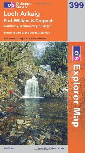 OS Explorer map 399 : Loch Arkaig