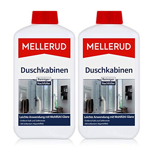 2x MELLERUD Duschkabinenreiniger 1L Set Aluminium Glas Kunststoff Acrylglas