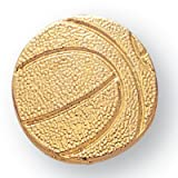 Awards and Gifts R Us 7/8 Inch Basketball Chenille Pin Gold - Package of 20, Poly Bagged