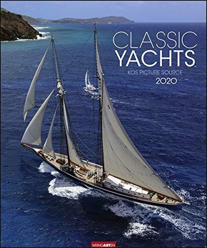 Classic Yachts. Wandkalender 2020. Monatskalendarium. Spiralbindung. Format 46 x 55 cm
