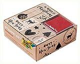 folia 31108 - Holzstempelset Christmas, inklusive 10 Holzstempel und 2 Stempelkissen