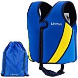 Limmys Premium Neoprene Swim Vest for Children, Buoyancy Swimming Aid for Boys and Girls, Drawstring Bag Included (Medium)