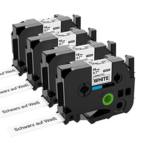 Markurlife Kompatible Bänder als Ersatz für Brother P-touch Schriftband 18mm 0,7 TZe-241 TZE241 TZ Tape Cassette für Brother P-Touch D400,PT-D600,PT-P700,PT-710BT,PT-1830,PT-2430,Schwarz auf Weiß