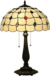 Lámpara De Mesa De Estilo Tiffany De 16 Pulgadas Dormitorio Lámpara De Cabecera Hexagonal Rosa Titular De La Lámpara Retro Creativo Decorativo Lámpara De Mesa ( Tamaño : 40*59cm , Vatios : 220v )