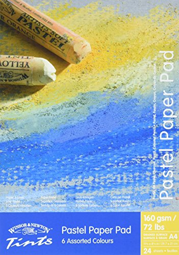 Winsor&Newton - Carta Colorata Pastelli A4 - 160 Gr - Blocco 24 Fogli