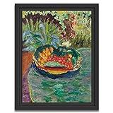 Printed Paintings Marco Americano (60x80cm): Pierre Bonnard - Canasta de Frutas en una Mesa en el jardín de Le Cannet