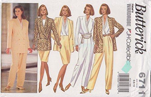 Butterick Sewing Pattern 6711 B6711 Misses Size 6-10 Jacket Blouse Skirt Pants
