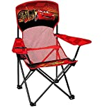 Disney Cars Child Folding Armchair with Built-in Cup Holder and Stuff Sack