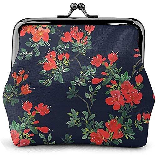 Dames portemonnee mooie bloemenprint portemonnee kus slot wisselzak vintage sluiting gesp portefeuille vrouwen geschenk