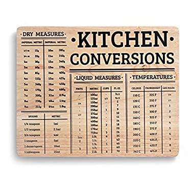 Sthetix Wood Chopping Board With Kitchen Conversions - Wood