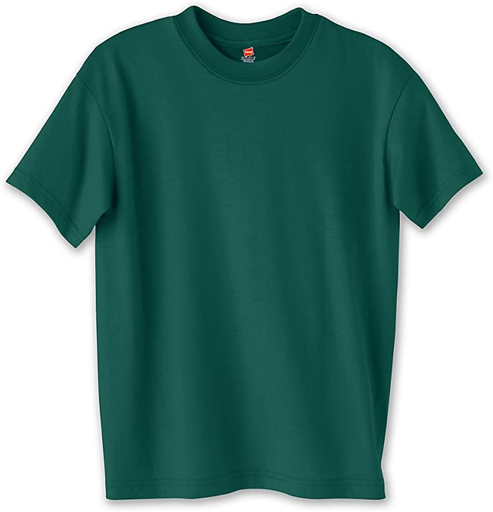 Hanes Youth Comfortblend Ecosmart Tee (Deep Forest) (S)