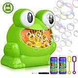 YAMI Automatische Seifenblasenmaschine für Kinder Tragbare Frosch Form Bubble Machine für Party,...