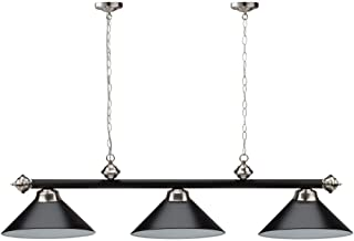 56-Inch Billiard Light for 7'/8'/9' Pool Tables (Several Colors Available) (Black)