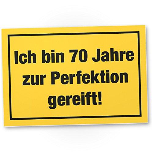 Bedankt! 70 jaar perfectie, plastic bord - cadeau 70e verjaardag, cadeau-idee verjaardagscadeau zeventig, verjaardagsdecoratie/feestdecoratie/feestaccessoires/verjaardagskaart