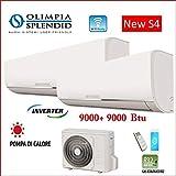 Olimpia Splendid Climatizzatore Dual Split A++ Inverter 9000+9000 Btu Wi-Fi R32