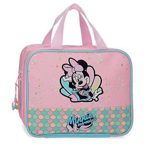 Disney Minnie Mermaid Nececer Adaptable Rosa 25x20x11 cms Poliéster